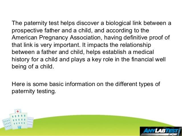 Basic Information About Paternity Testing Slide 3