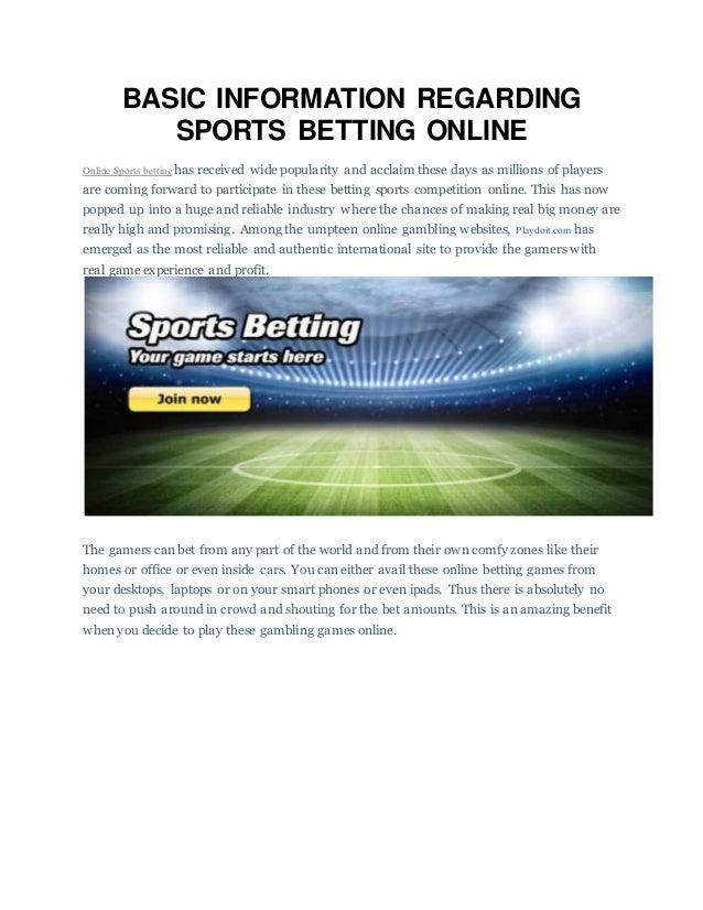 Sport Betting Information