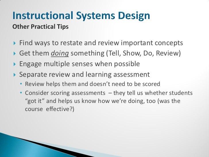 gagne principles of instructional design