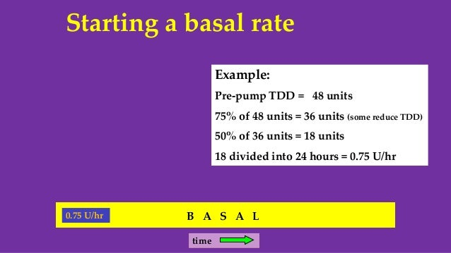 Basic Insulin Pumping