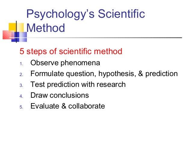 scientific method 5 steps