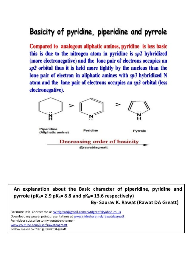 Basicity of heterocyclics pdf