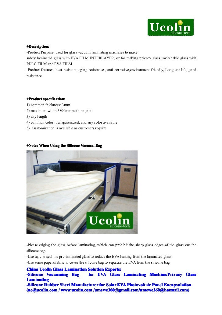 Basic Knowledge Of Silicone Vacuum Bag For Eva Glass
