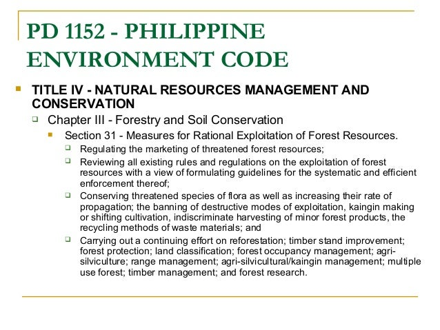 Laws On Conserving Natural Resources