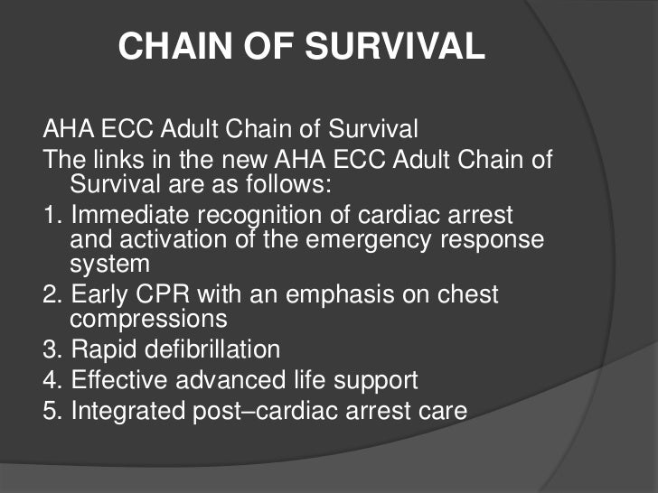 adult cardiac chain of survival