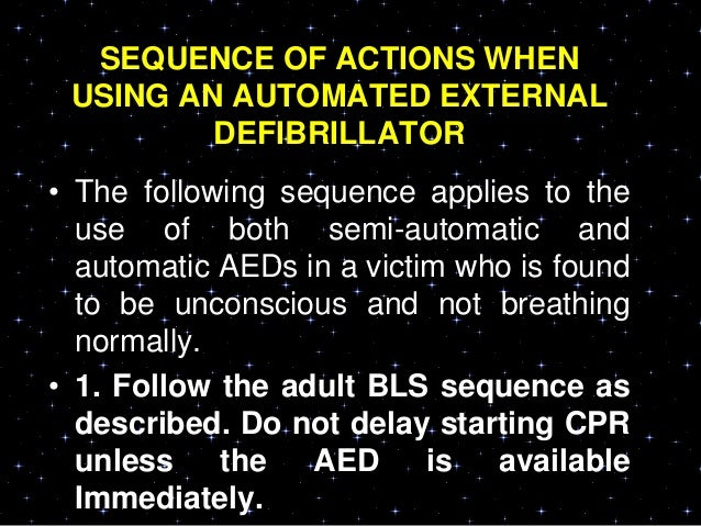 • If neither is available, an AED without adose attenuator may be used.• AEDs that deliver relatively high-energydoses hav...