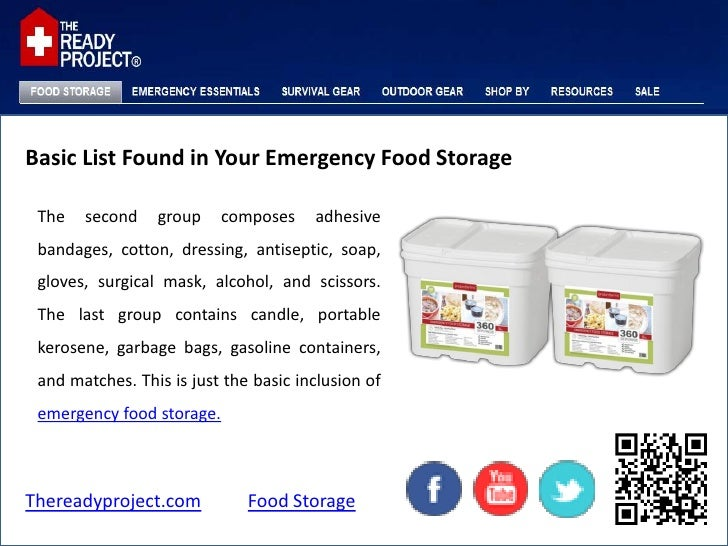 Thereadyproject.com Food Storage; 9. Basic List Found in Your Emergency ...  sc 1 st  SlideShare & Basic list found in your emergency food storage