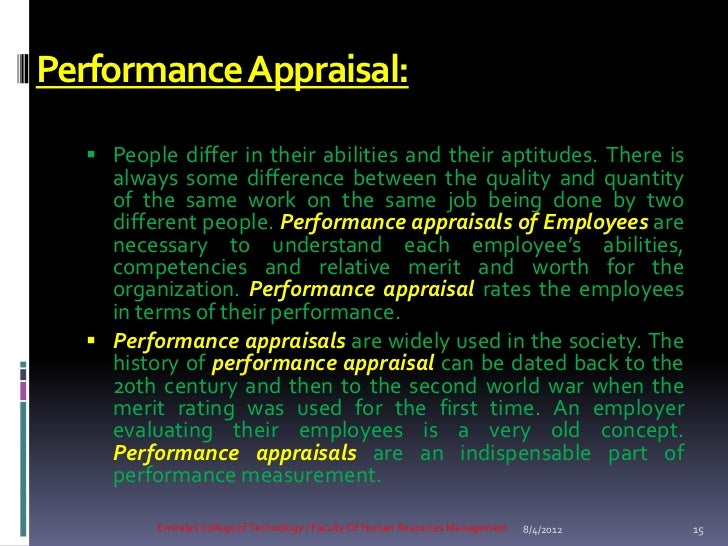 performance appraisals of employees are necessary to understand each employee s abilities Aligns each employee's daily tasks with your key business objectives  determines goals and where to focus skill development  appraisals, which tend  to focus on areas that an employee needs to  when employees understand that  performance management is  sign up for essential hr news & tips.