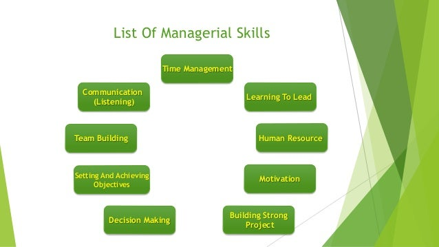 the Basic managerial skills