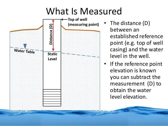 Basic Manual Water Level Measurement - Elevation measurement