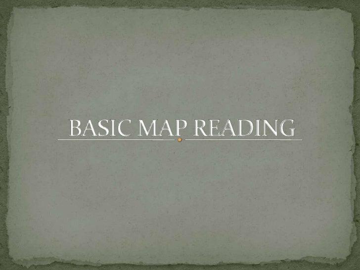 BASIC MAP READING<br />