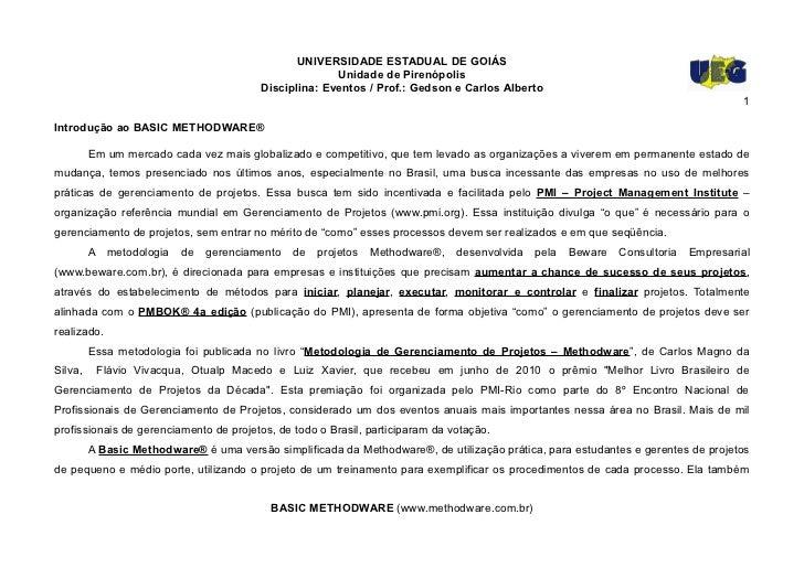 UNIVERSIDADE ESTADUAL DE GOIÁS                                                       Unidade de Pirenópolis               ...