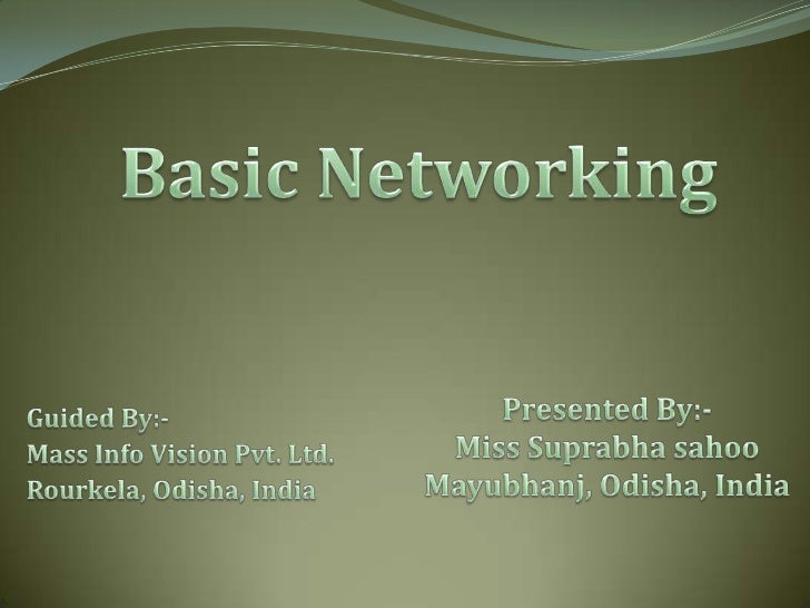 What is computer networkingComputer networking means sharing of data &resources between two or more computer with acommuni...