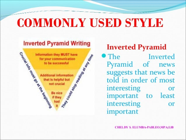 inverted pyramid writing