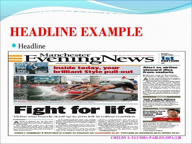 basic news writing