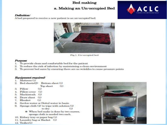 Bed Making Procedure In Hospital
