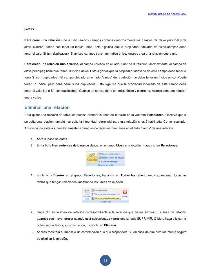 Manuales de Acces 2007 y 2013 en PDF para descargar