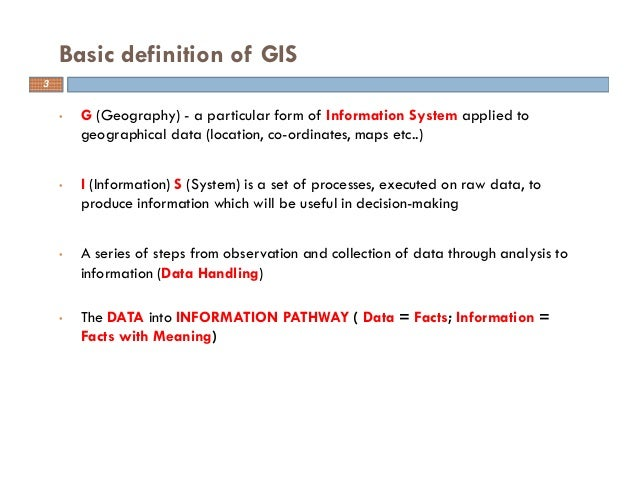 Basic of gis concept and theories