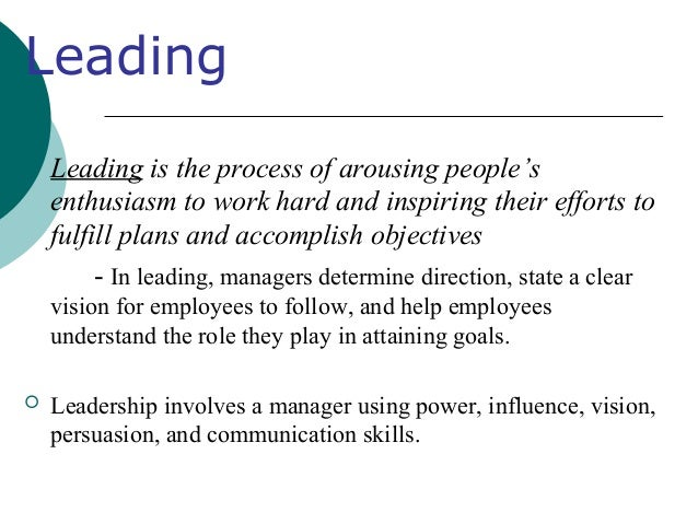 relationships between planning organizing leading and controlling Understand the role of mission and vision in controlling  between mission and vision,  key roles in the organizing, leading, and controlling functions.