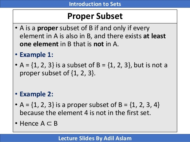 Introduction to sets theory in mathematics proper subset ccuart Image collections