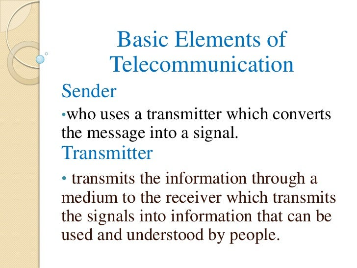 basic of telecommunication presentation, Powerpoint templates