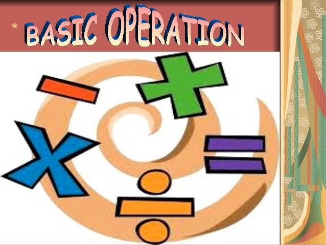 Basic Operations In Mathematics