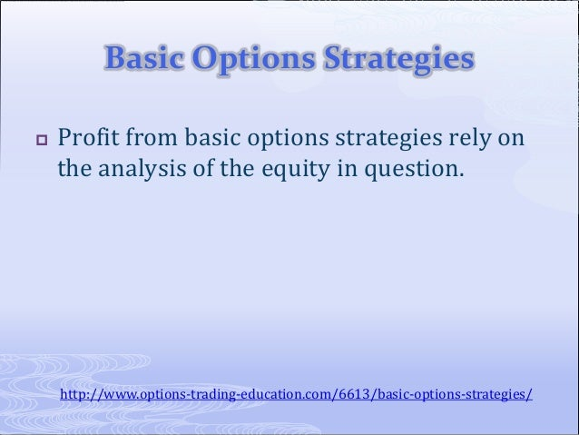 4 basic option strategies