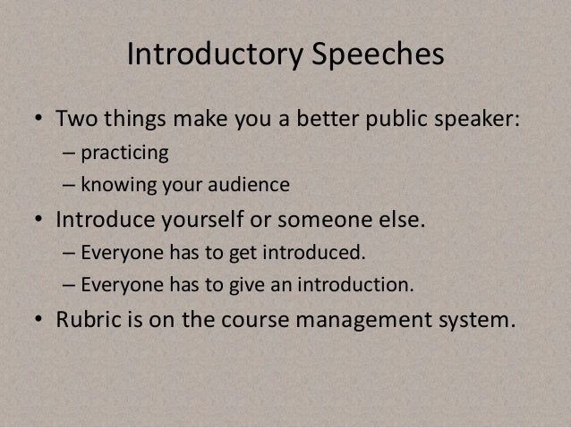 tips on writing an introduction speech