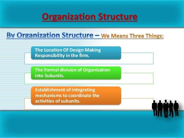 basic organizational design