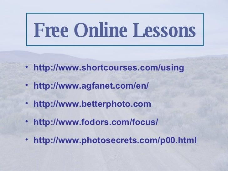 <ul><li>http://www.shortcourses.com/using </li></ul><ul><li>http://www.agfanet.com/en/ </li></ul><ul><li>http://www.better...