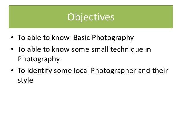 Basic Photography Slide 2