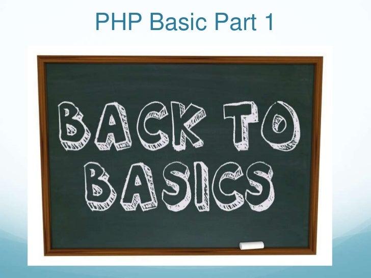 PHP Basic Part 1