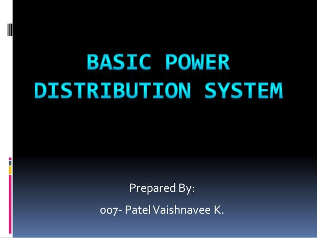 Basic power distribution system007