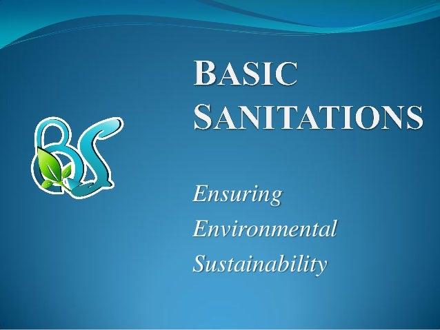 Ensuring Environmental Sustainability