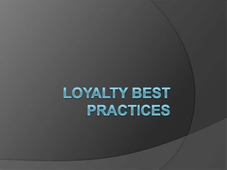    Loyalty programs are often part and    parcel of a comprehensive customer    relationship strategy.