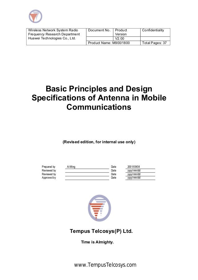 Document No. ProductVersionConfidentialityV2.00Wireless Network System RadioFrequency Research DepartmentHuawei Technologi...