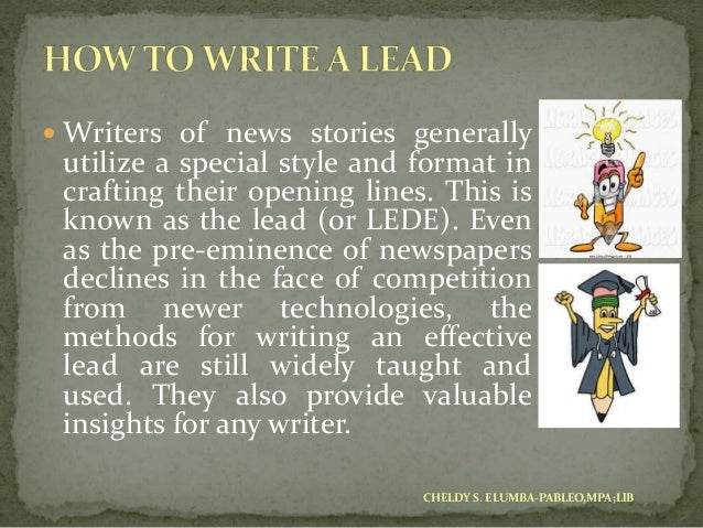 basic principles in news writing