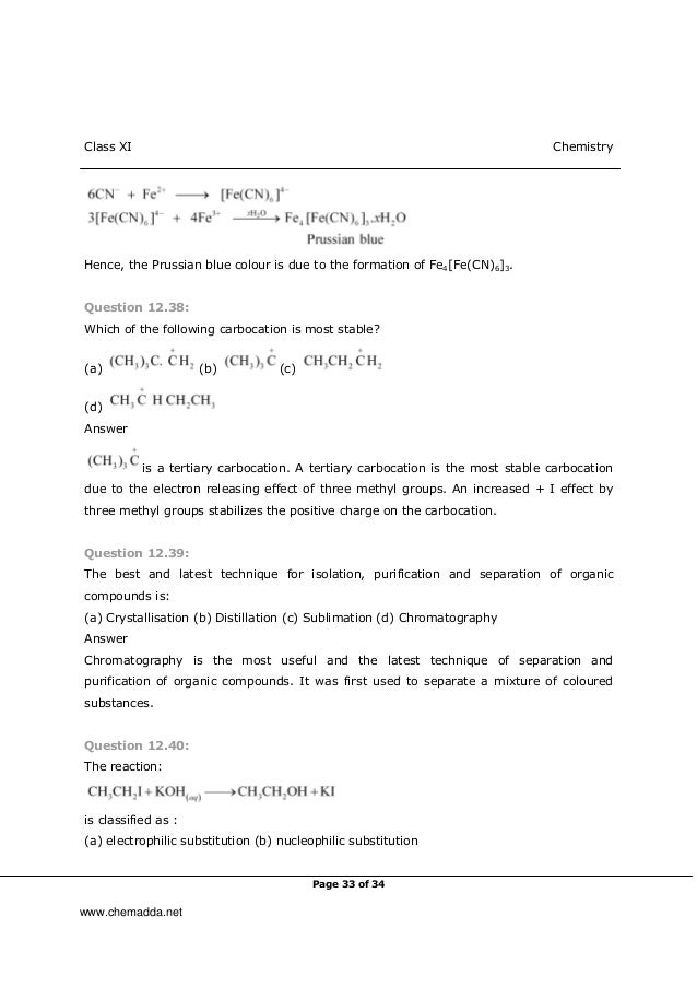 Basic Principles In Organic Chemistry Exercise With Solutions