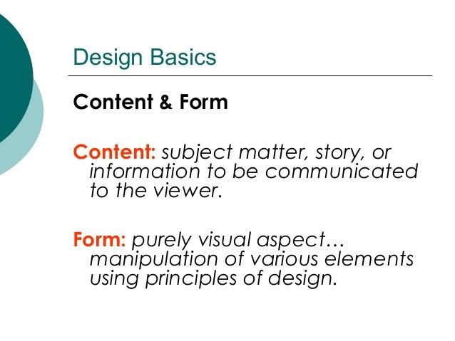 Different Principles Of Design : Basic principles of design
