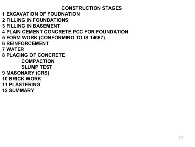Basic principles of design for rcc building for Stages in house construction
