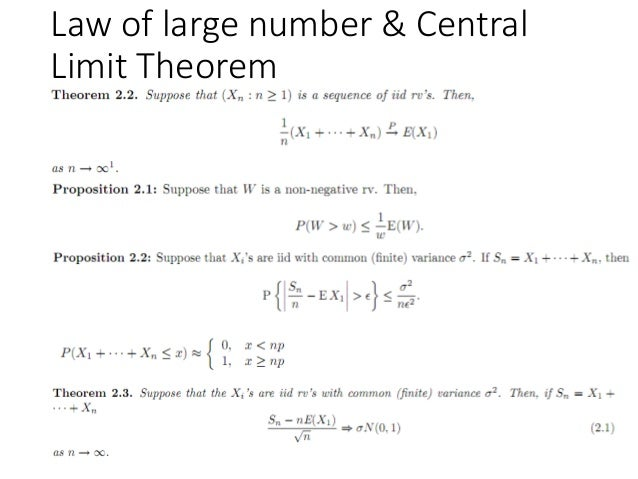 Law of large number & Central Limit Theorem