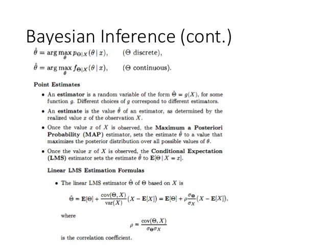 Bayesian Inference (cont.)