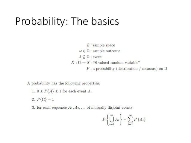 Probability: The basics