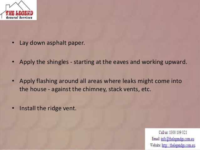 Basic Process Of Roofing Techniques