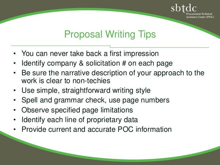 Basic Proposal Writing, PTAC