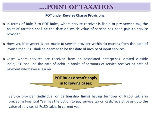service tax paid by service receiver