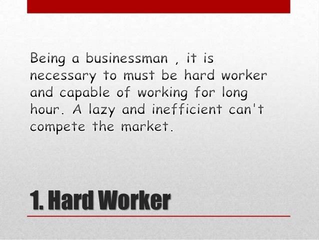 Basic qualities of a good businessman