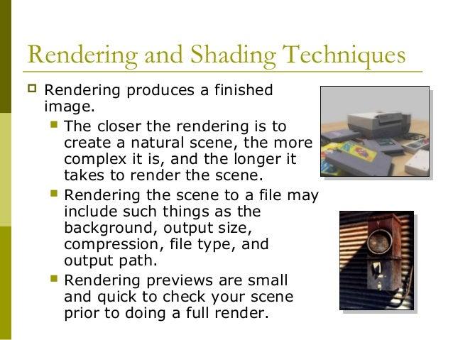Basic rendering techniques