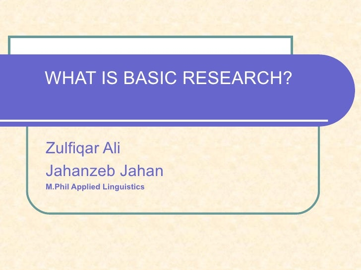 Fundamental research - Definition