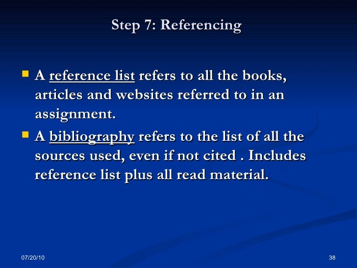 academic essay reference list Academic referencing for information on how to reference this website not for academic purposes see the your reference list should then include the.